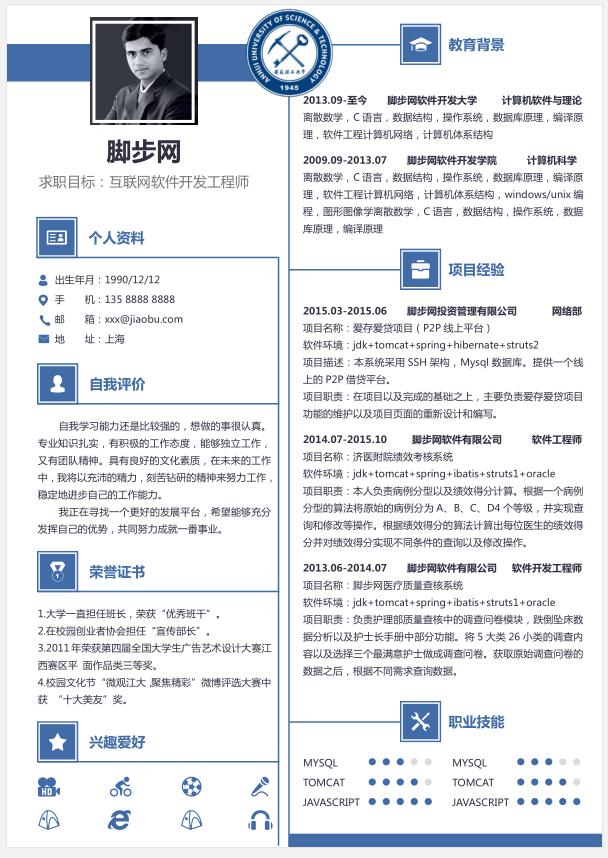 安徽理工大学毕业生简历YX036缩略图0