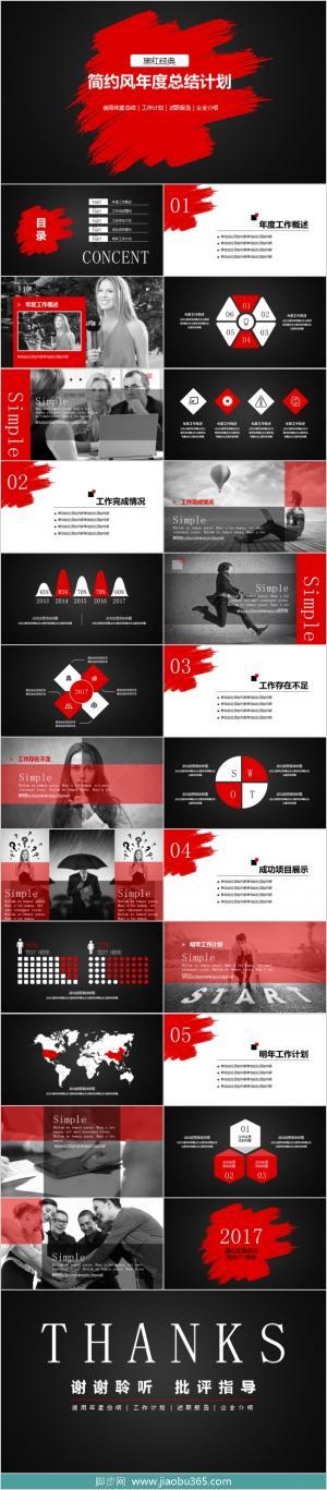 【黑红经典】商务通用总结计划述职报告PPT