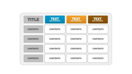 简洁实用PPT表格模板PPT图表