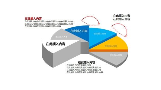 创意立体饼状图数据分析ppt图表素材PPT图表