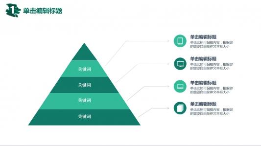 简约三角形层级关系图表PPT模板